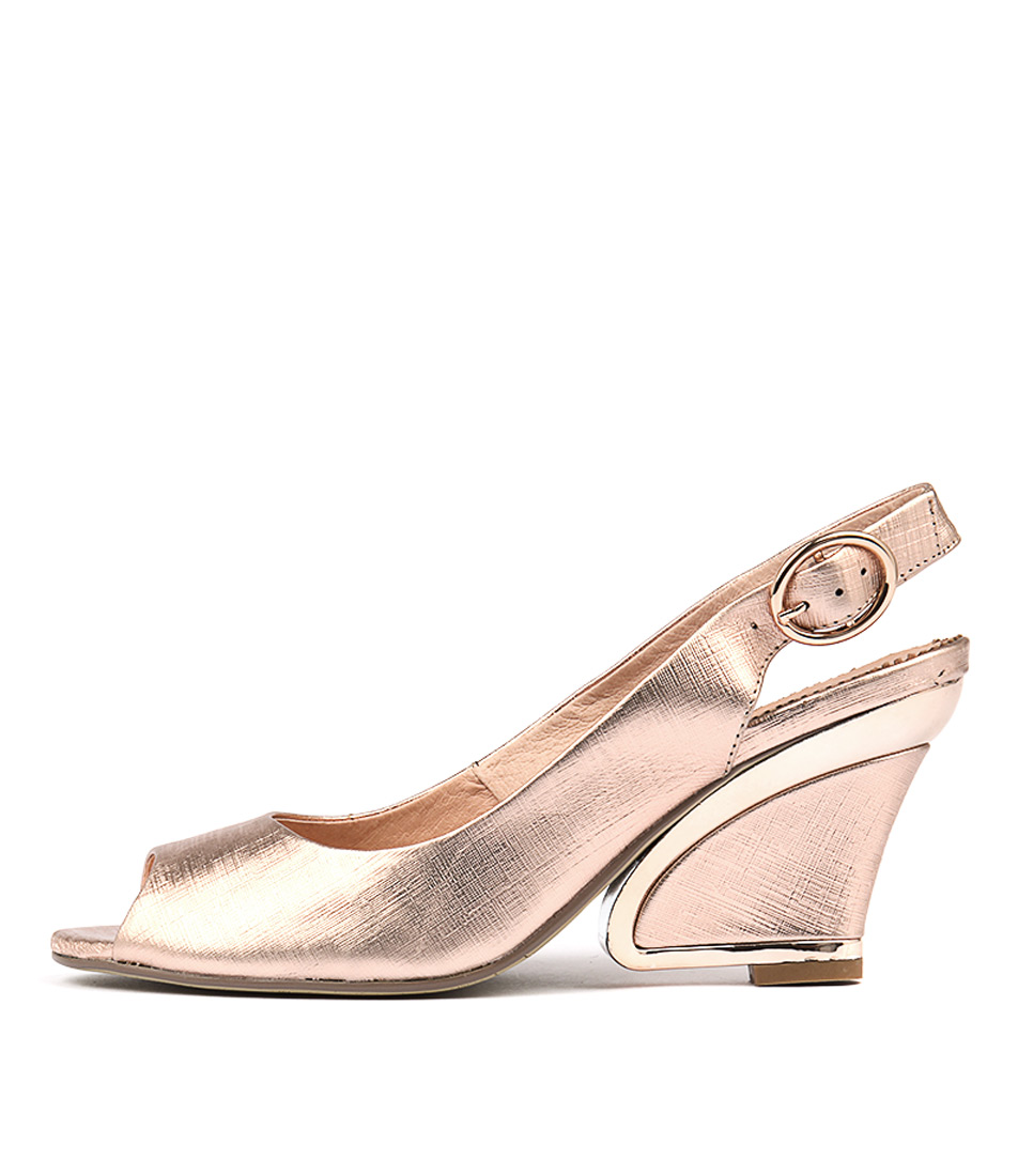Django & Juliette Exclamation Rose Gold High Heels