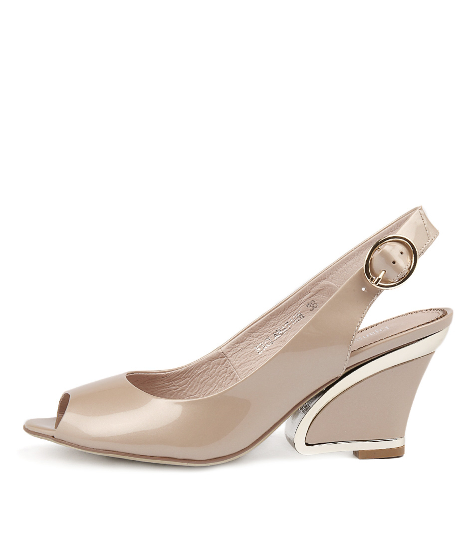 Photo of Django & Juliette Exclamation Taupe High Heels womens shoes