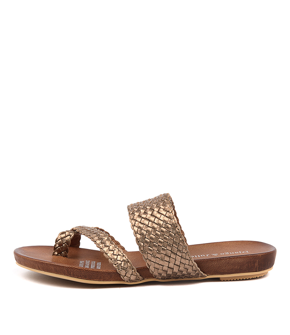 Django & Juliette Gallow Bronze Casual Flat Sandals