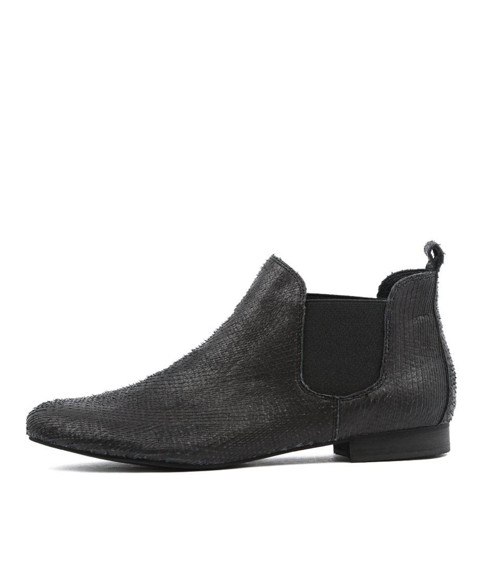 Django & Juliette Glenvalia Black Ankle Boots