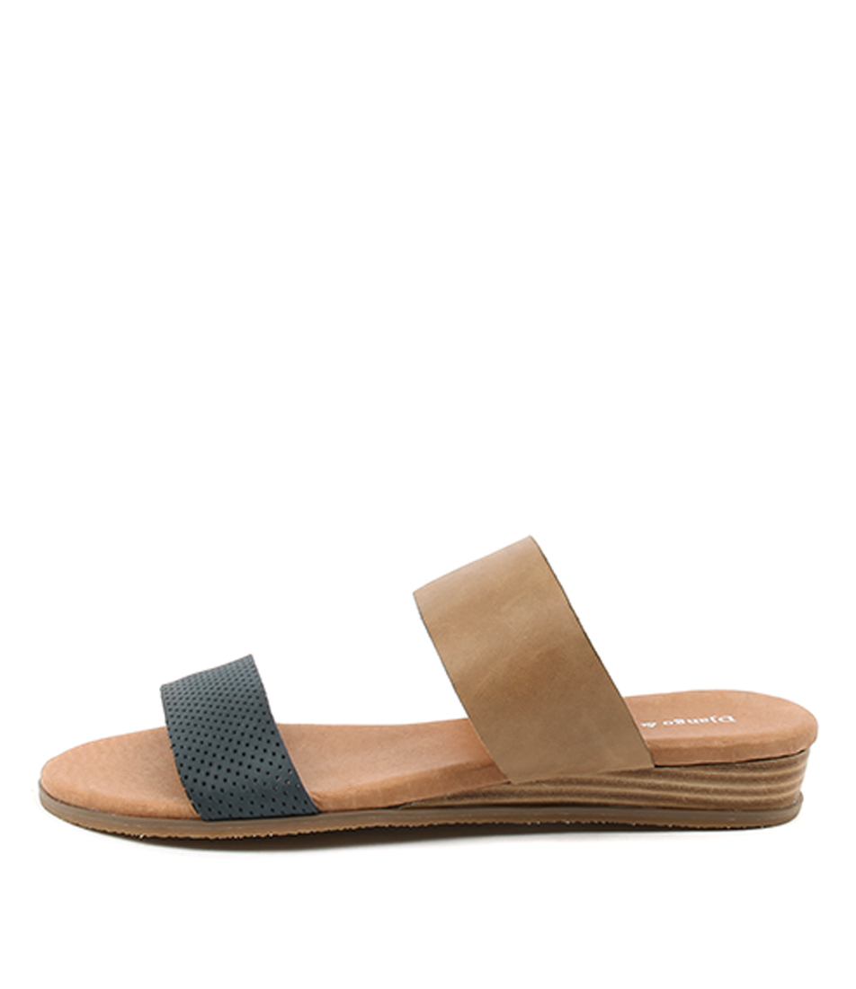 Django & Juliette Hadmy Navy Tan Sandals