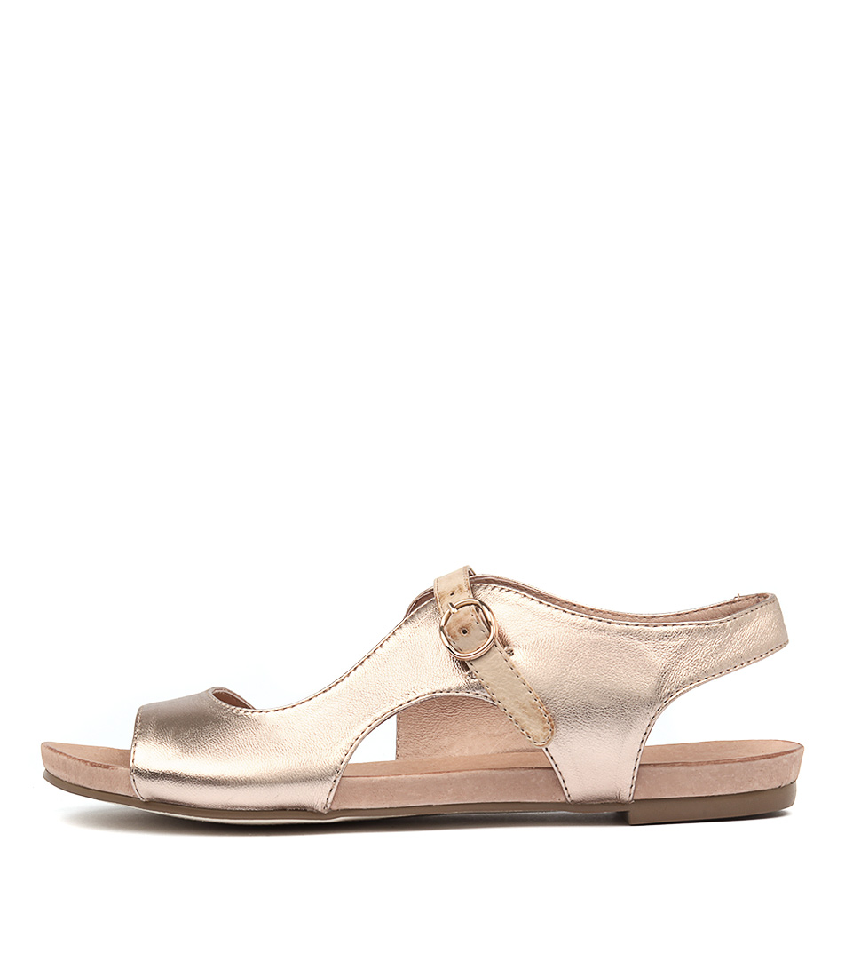 Django & Juliette Jacobi Rose Gold Nude Sandals