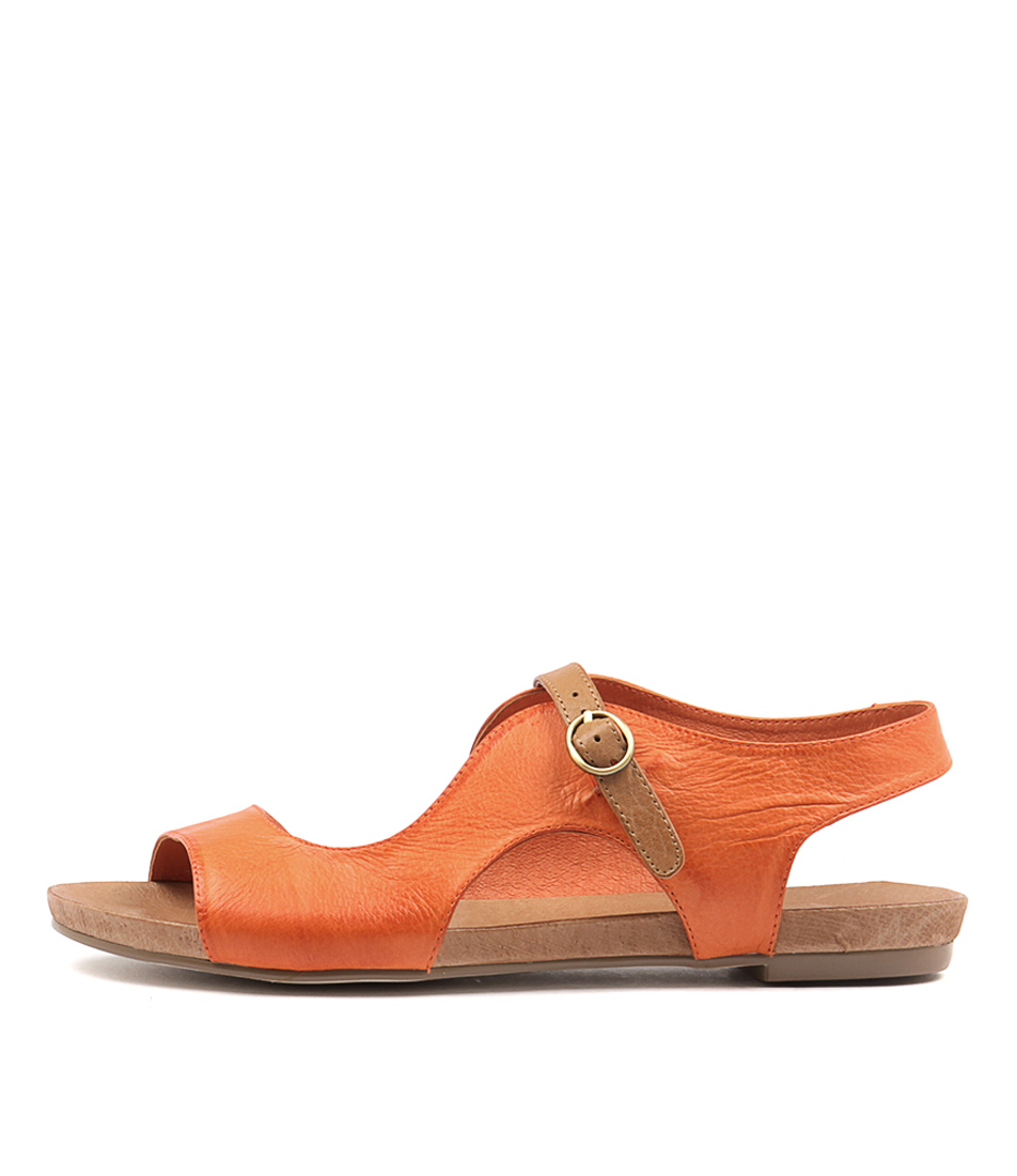 Django & Juliette Jacobi Orange Tan Sandals