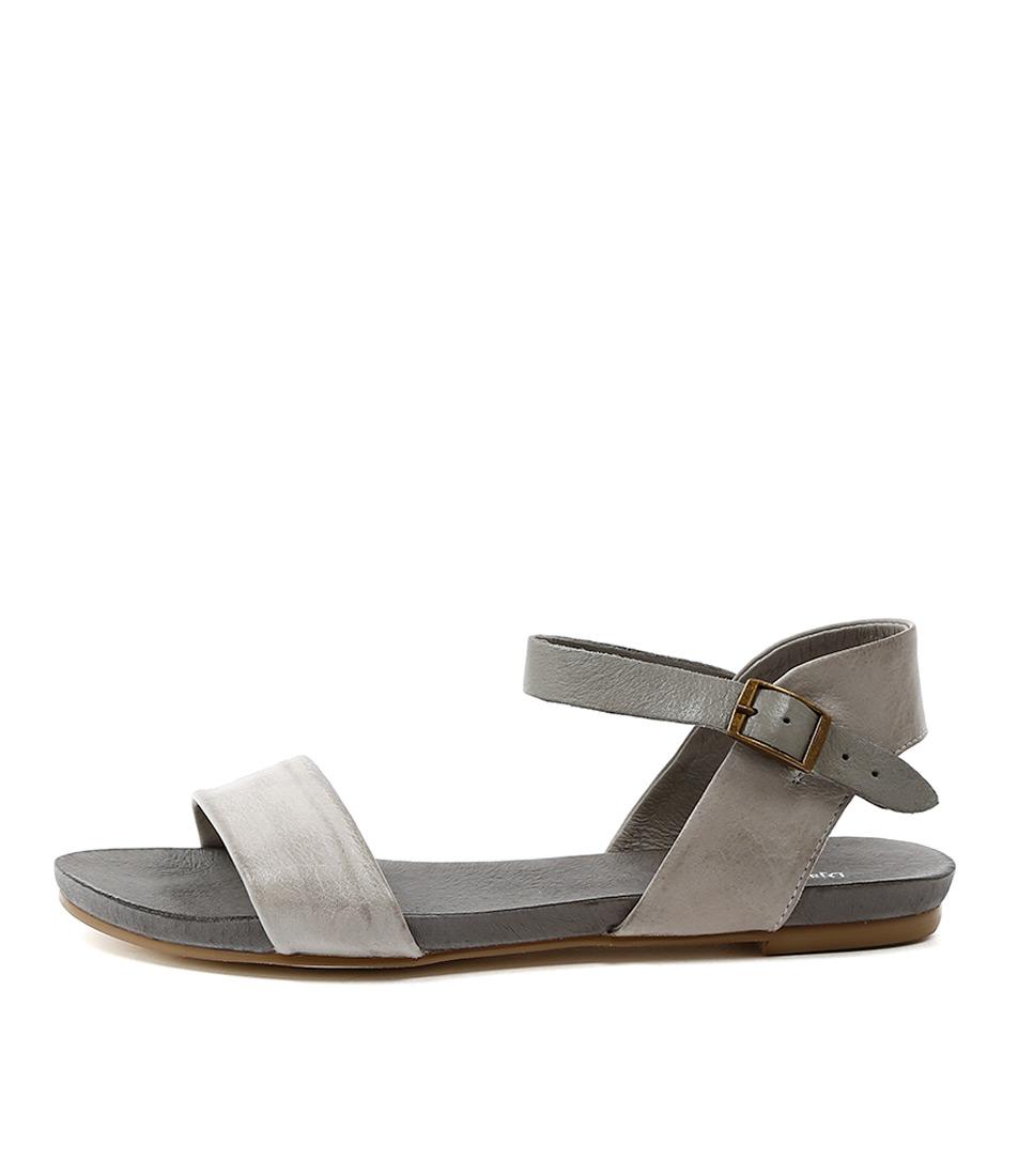 buy Django & Juliette Jinnit Misty Grey Strap Sandals shop Django & Juliette Sandals online