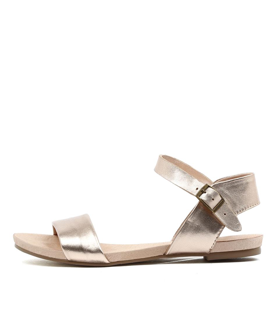 Buy Django & Juliette Jinnit Rose Gold Rose Gold Flat Sandals online with free shipping