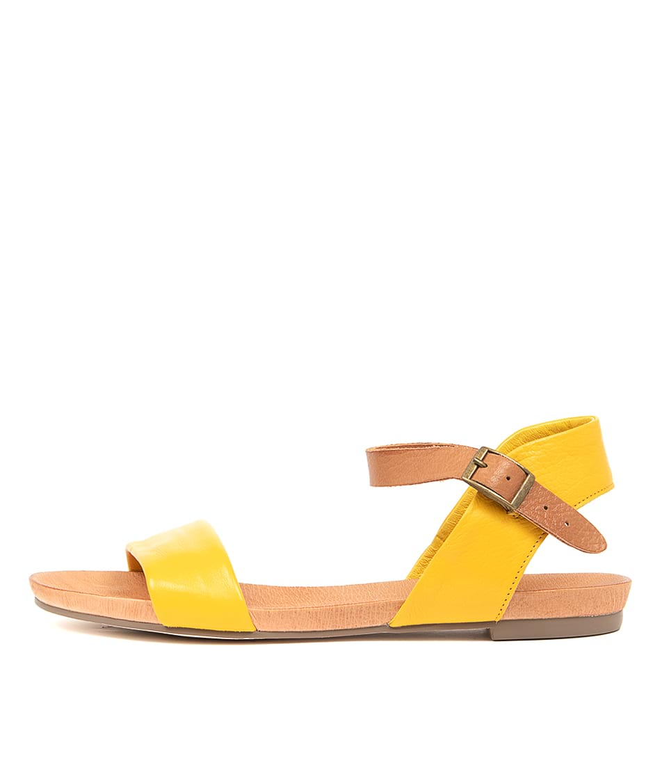 Buy Django & Juliette Jinnit Buttercup Tan Flat Sandals online with free shipping