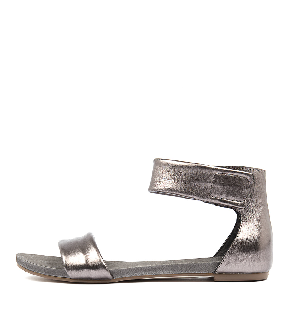 Django & Juliette Juzz Pewter Flat Sandals