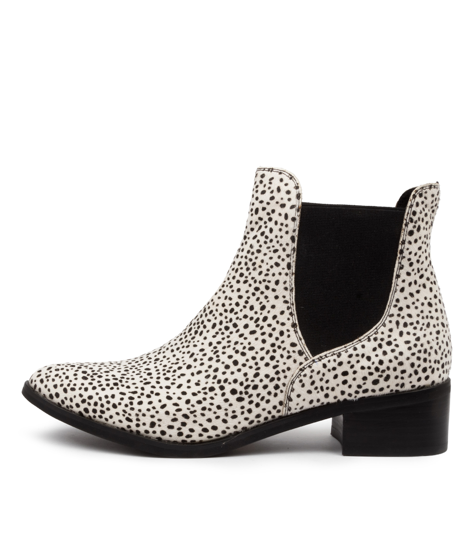 Buy Django & Juliette Pancho Black & White Ankle Boots online with free shipping