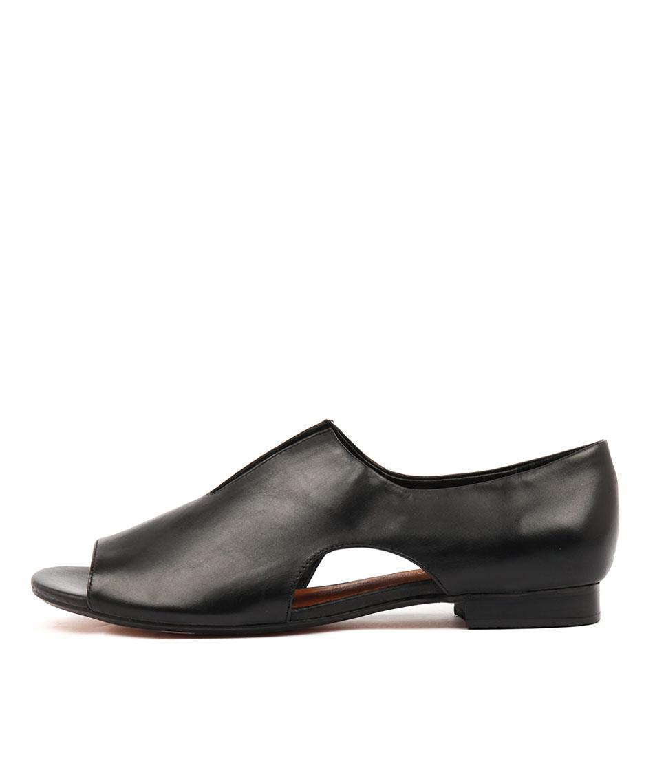 Buy Django & Juliette Pretta Black Flat Sandals online with free shipping