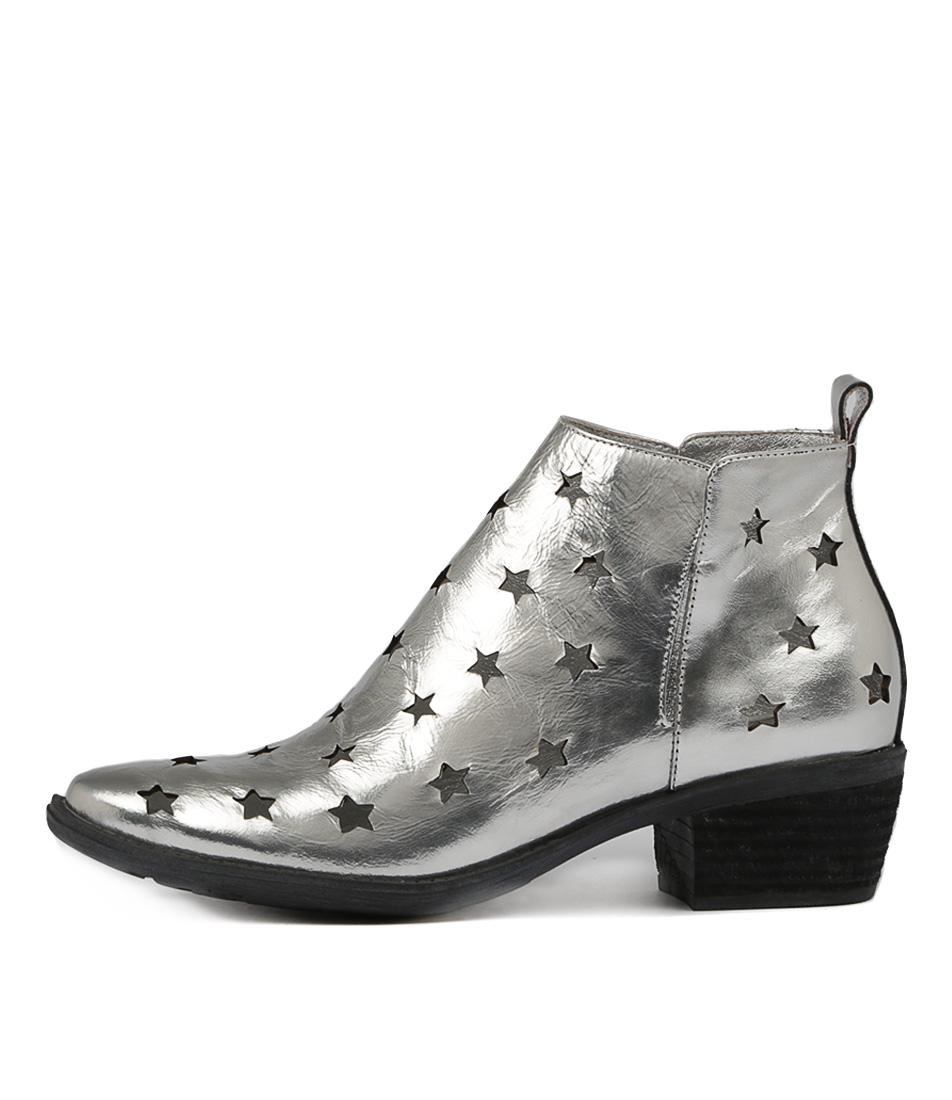 Django & Juliette Sacred Silver Ankle Boots