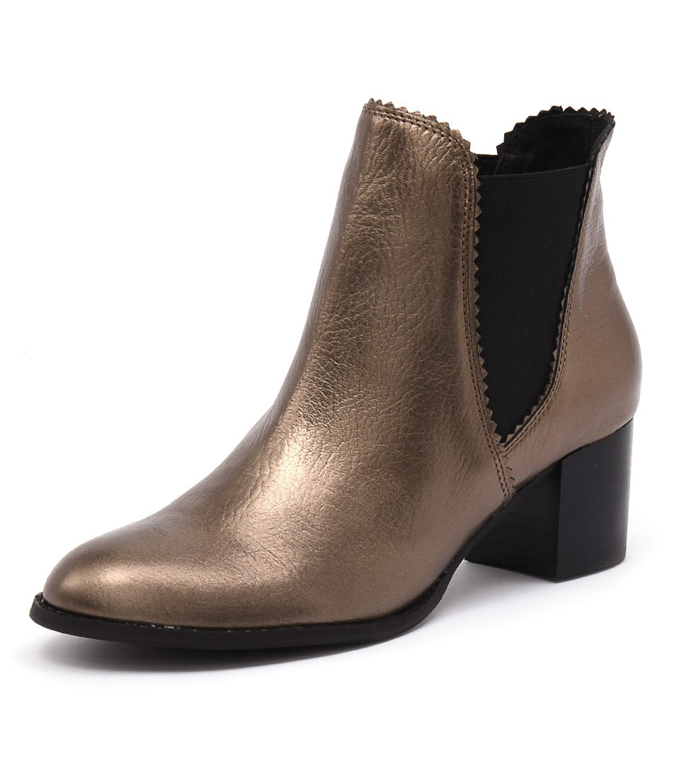 New Django & Juliette Sadore Bronze Womens shoes Dress Boots Boots Boots Ankle ce09e0