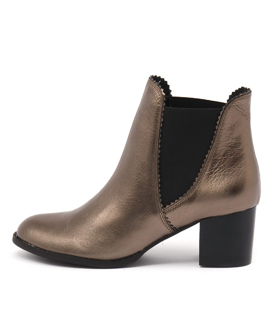 Django & Juliette Sadore Bronze Dress Ankle Boots