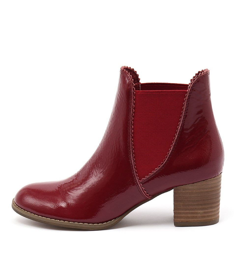 Photo of Django & Juliette Sadore Red Ankle Boots womens shoes