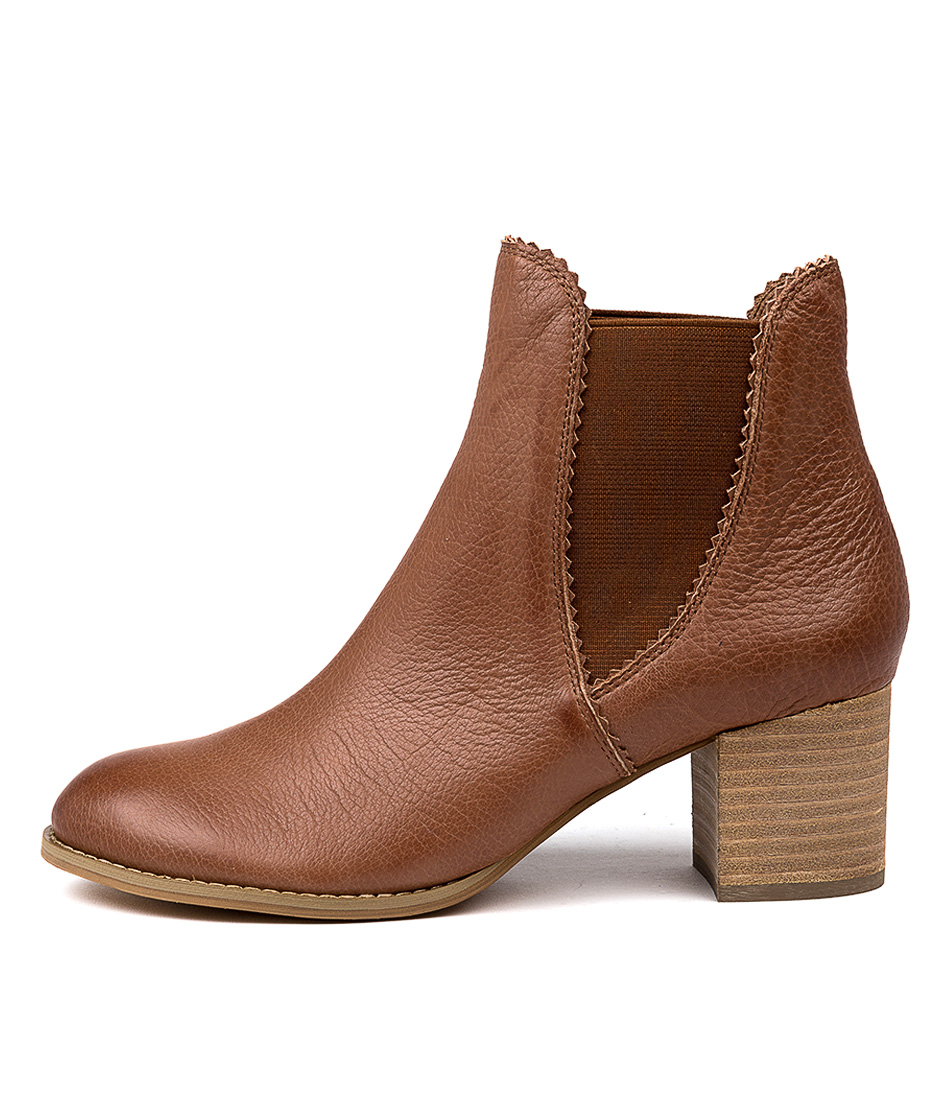 Buy Django & Juliette Sadore Cognac Dress Ankle Boots online with free shipping