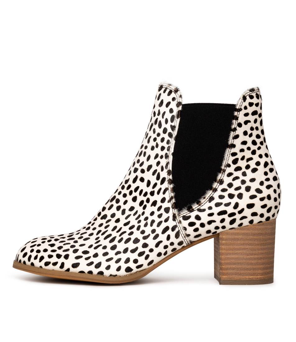 Buy Django & Juliette Sadore White & Black Ankle Boots online with free shipping