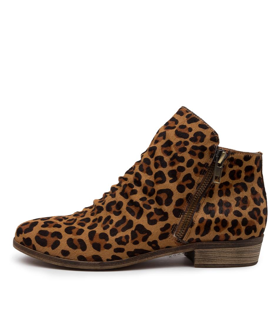 Buy Django & Juliette Split Leopard Ankle Boots online with free shipping