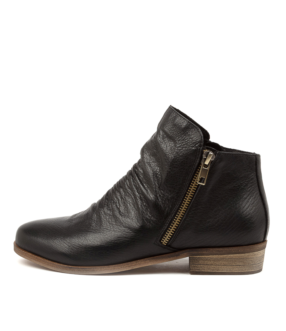 Buy Django & Juliette Split New Black Ankle Boots online with free shipping