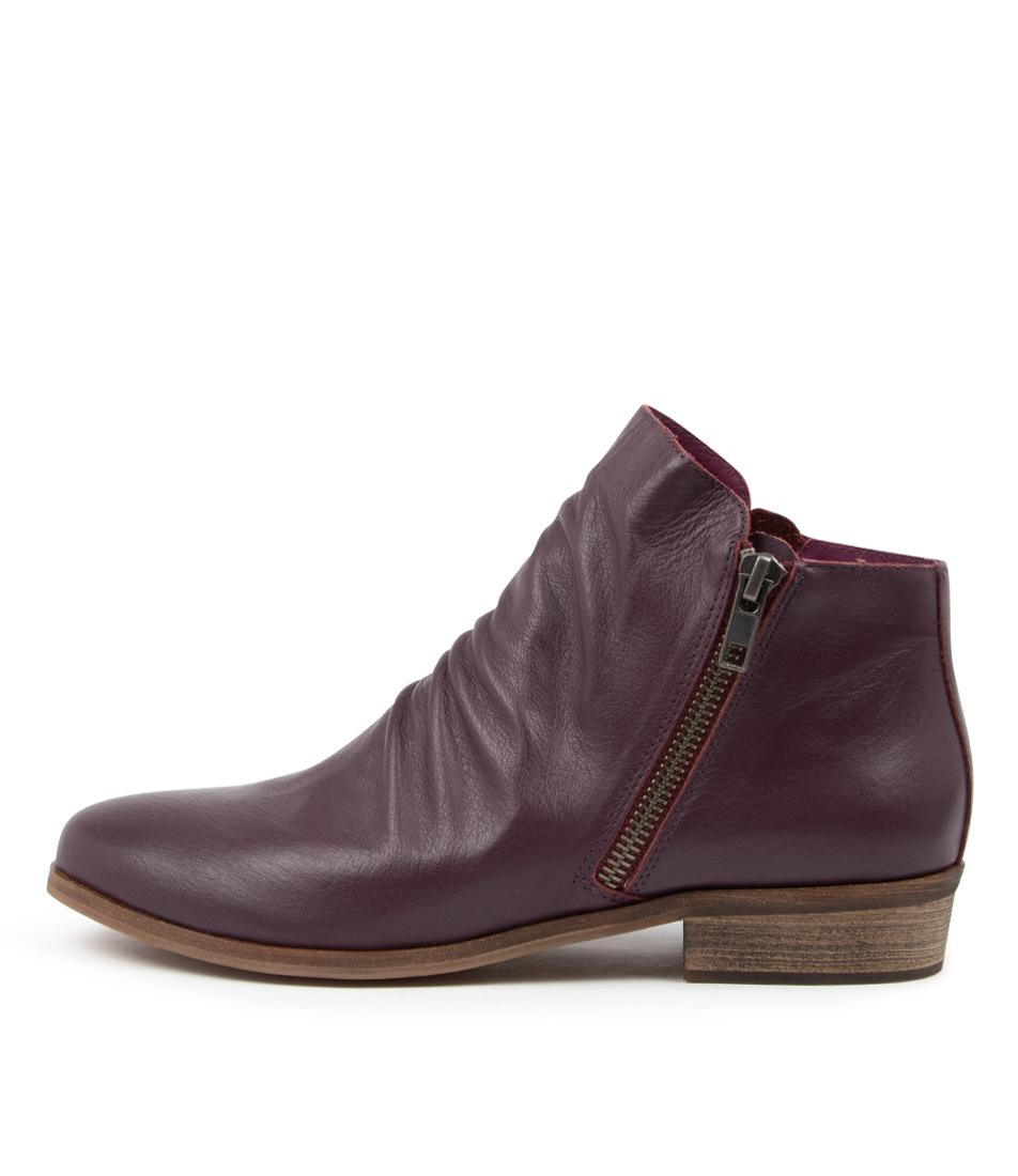 Buy Django & Juliette Split New Purple Ankle Boots online with free shipping