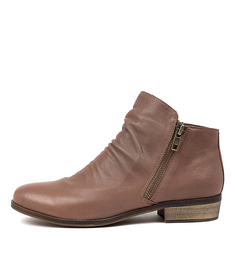 Buy Django & Juliette Split Taupe Ankle Boots online with free shipping