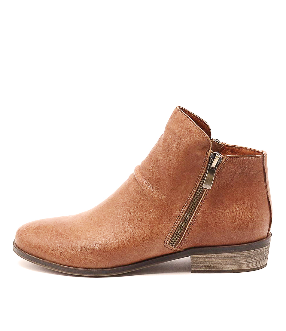 Buy Django & Juliette Split Tan Ankle Boots online with free shipping