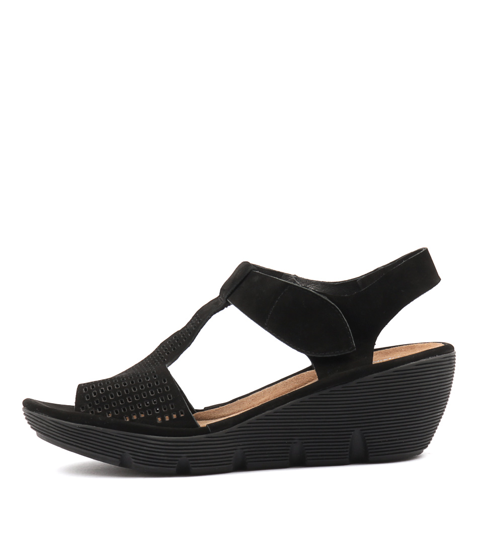 Django & Juliette Torrid Black Sole Heeled Sandals