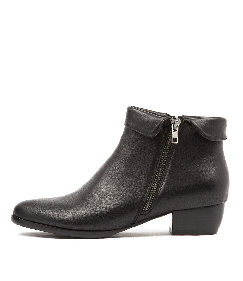 Buy Django & Juliette Twinzip Black Ankle Boots online with free shipping