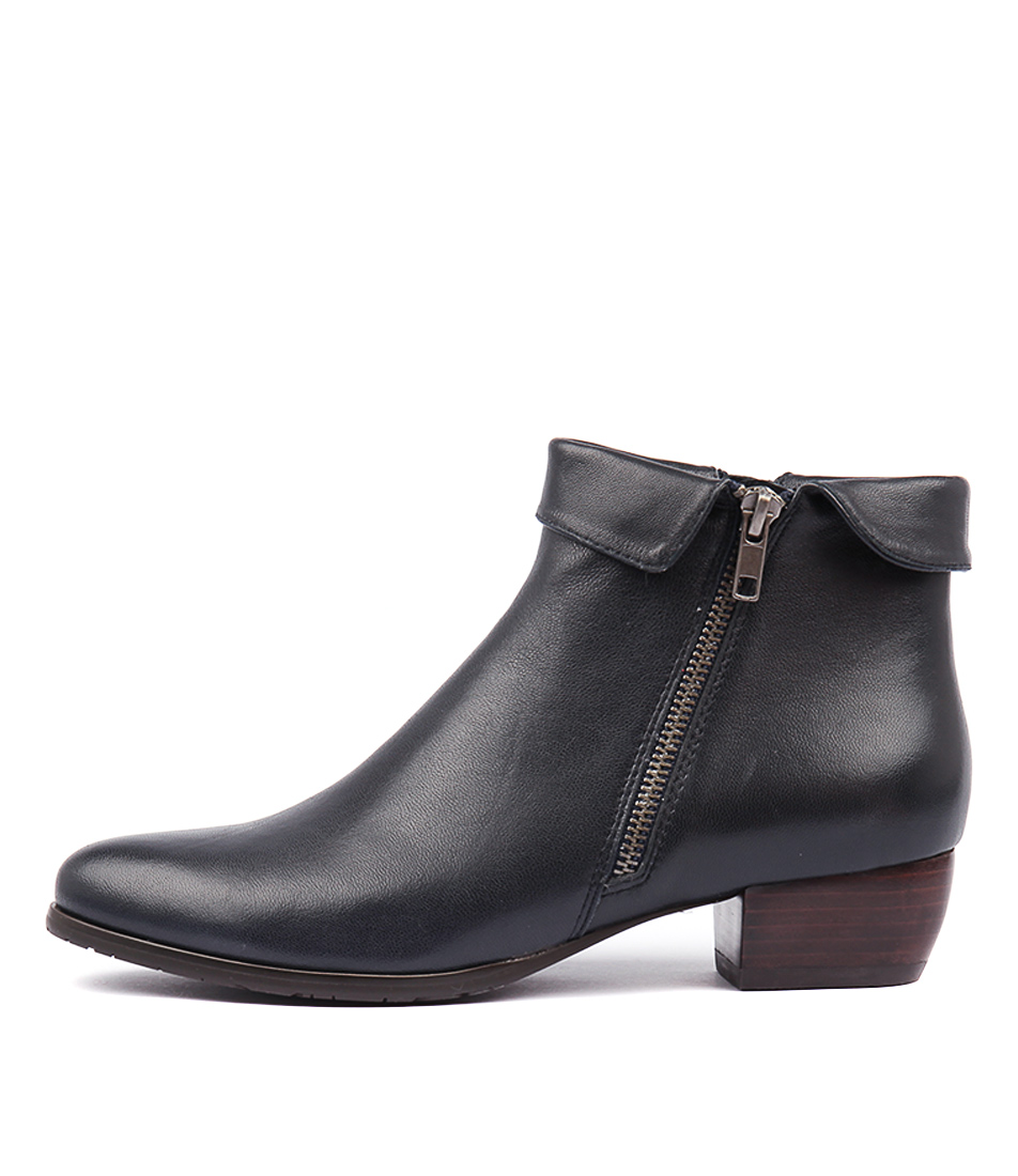 Buy Django & Juliette Twinzip Navy Ankle Boots online with free shipping