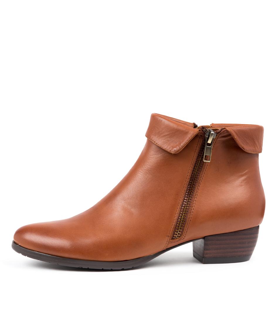 Buy Django & Juliette Twinzip Cognac Ankle Boots online with free shipping