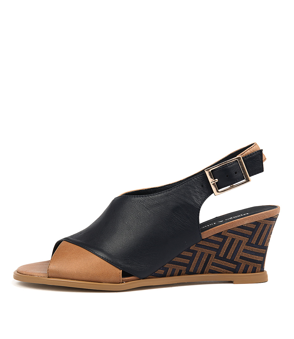 Photo of Django & Juliette Ulohin Navy Tan Heeled Sandals womens shoes