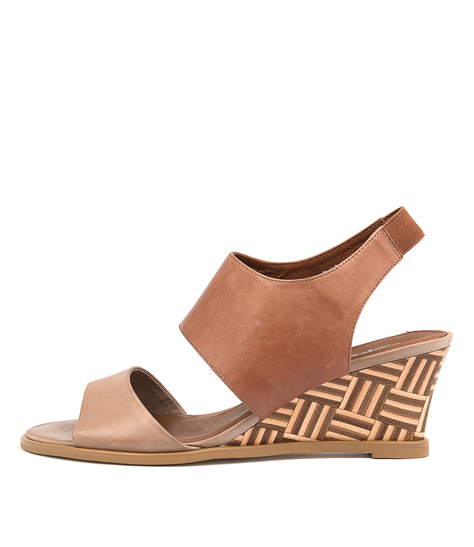 Django & Juliette Undez Latte Tan Casual Heeled Sandals
