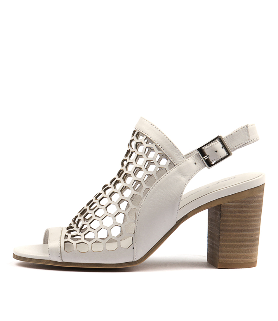 Photo of Django & Juliette Vikki White Sandals, shop Django & Juliette shoes online