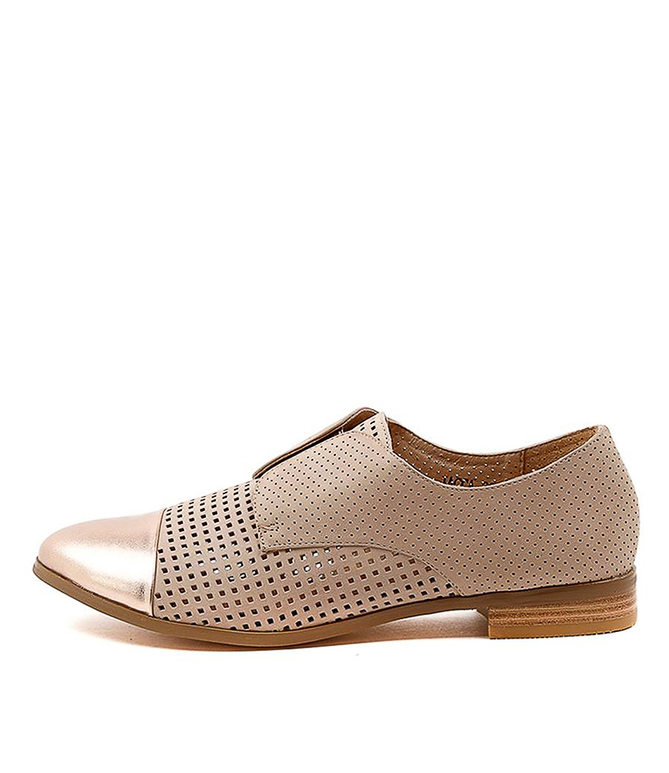 Buy Django & Juliette Jacca Rose Gold Nude Flats online with free shipping