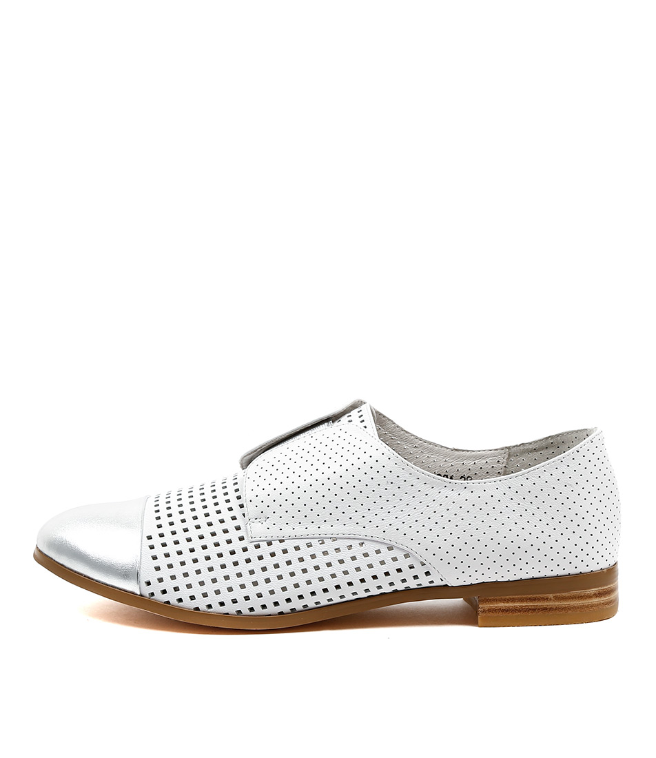 Buy Django & Juliette Jacca Silver White Flats online with free shipping