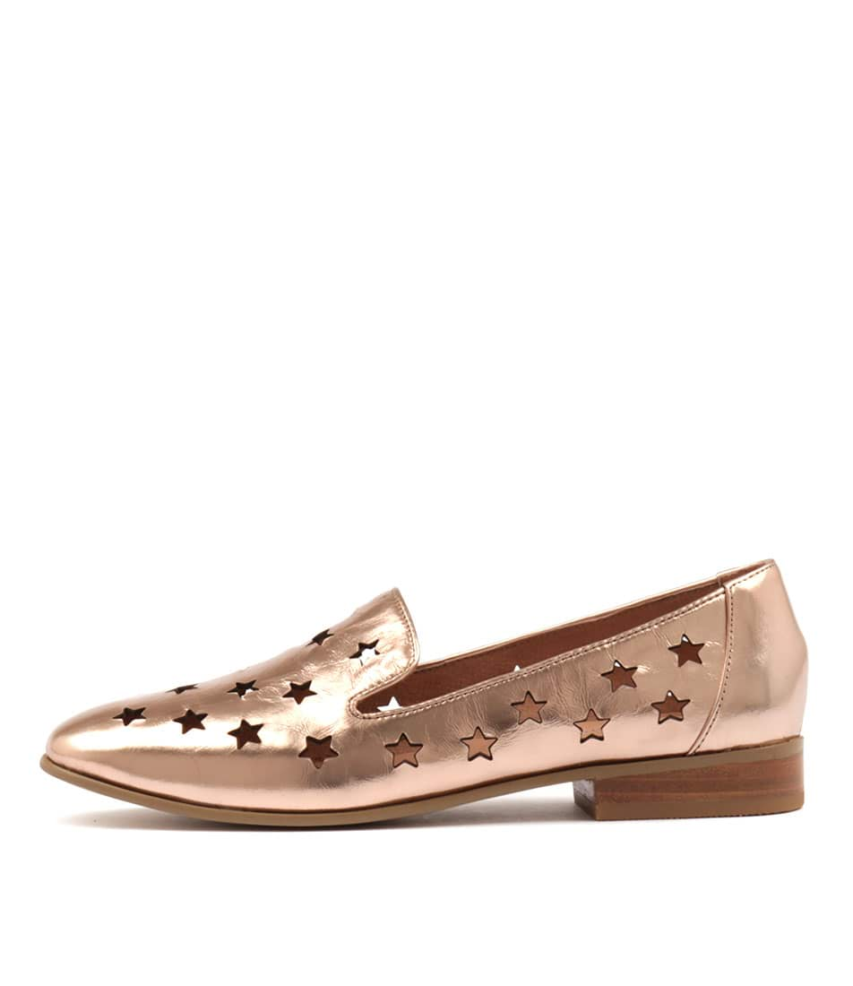buy Django & Juliette Lashes Rose Gold Flat Shoes shop Django & Juliette Flats online