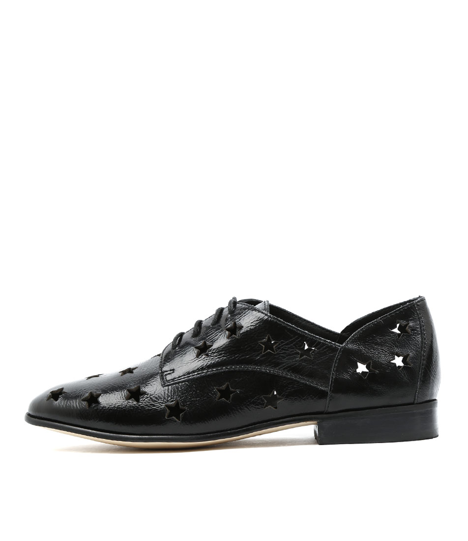 buy Django & Juliette Layer Black Metallic Flat Shoes shop Django & Juliette Flats online