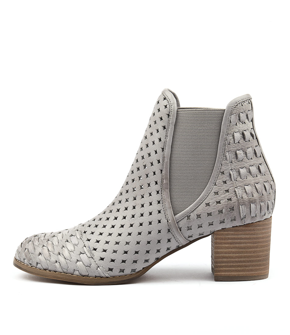 Django & Juliette Senka Grey Casual Heeled Shoes