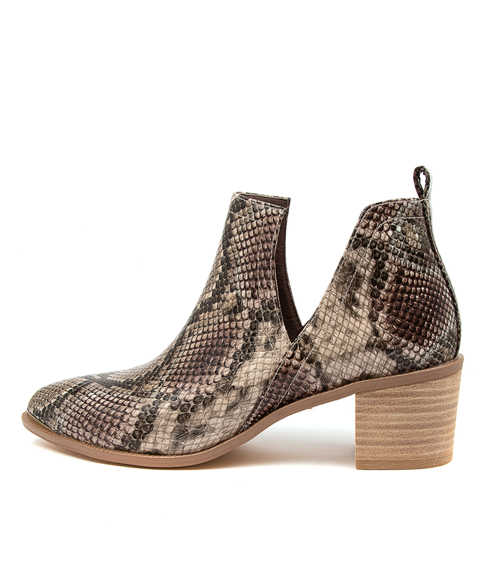 Buy Django & Juliette Henton Taupe Multi Ankle Boots online with free shipping