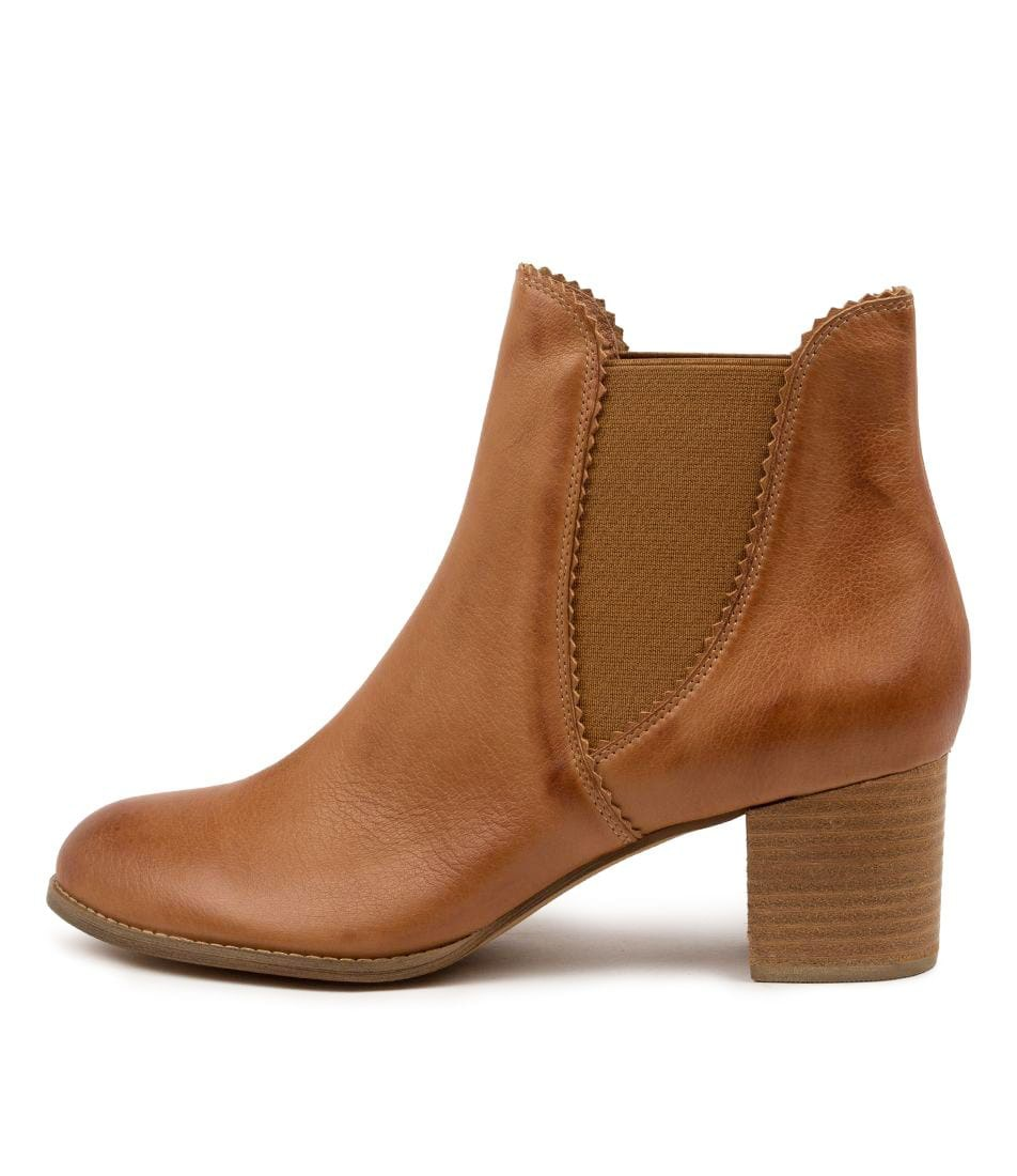 Buy Django & Juliette Sadore Lrg Dk Tan Ankle Boots online with free shipping