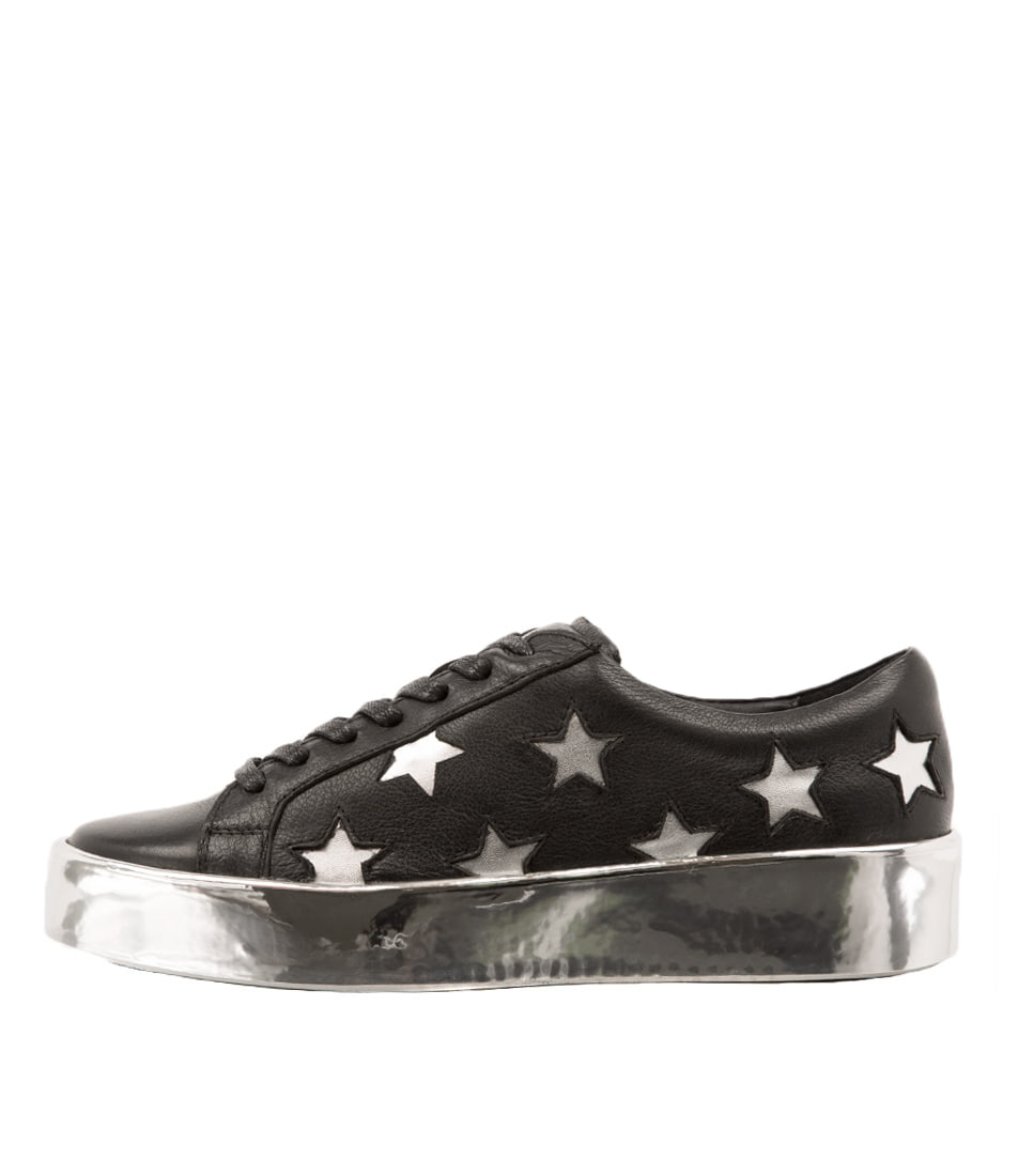 Photo of Django & Juliette Lavista Black Silver Sneakers, shop Django & Juliette shoes online