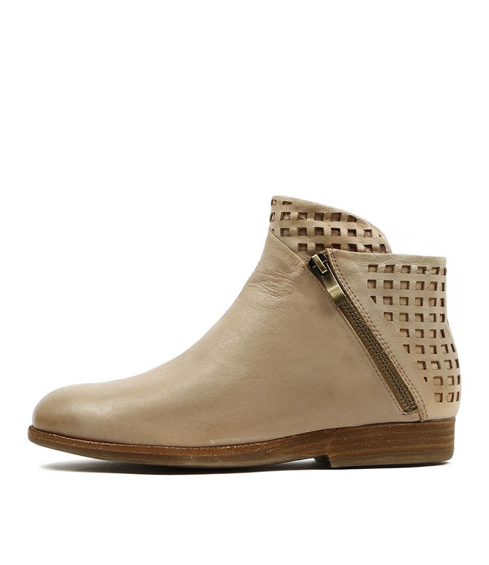 Django & Juliette Asha Latte Casual Ankle Boots