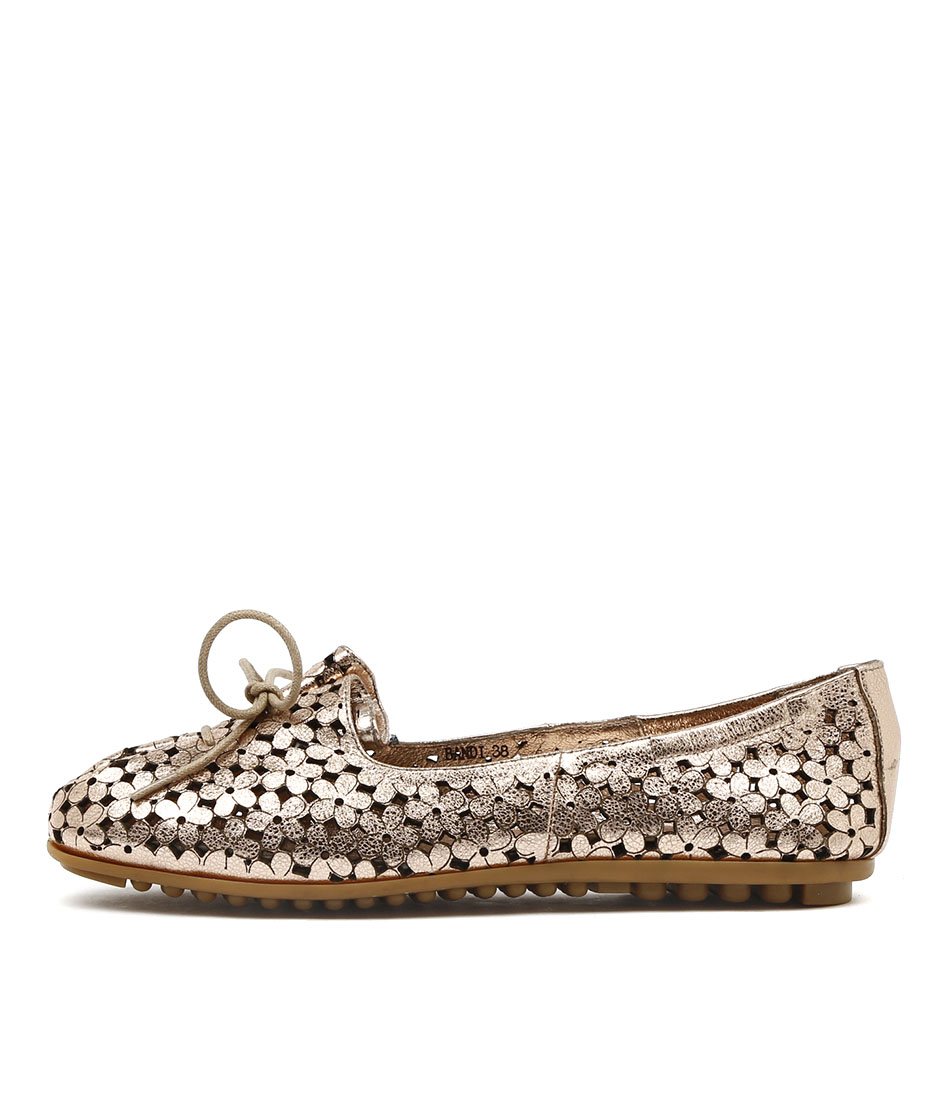 Django & Juliette Bandi Rose Gold Comfort Flat Shoes