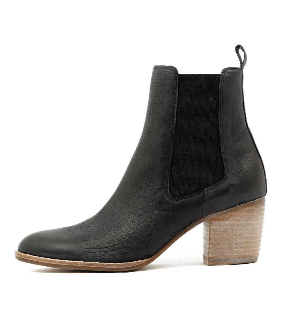Django & Juliette Beemo Black Casual Ankle Boots