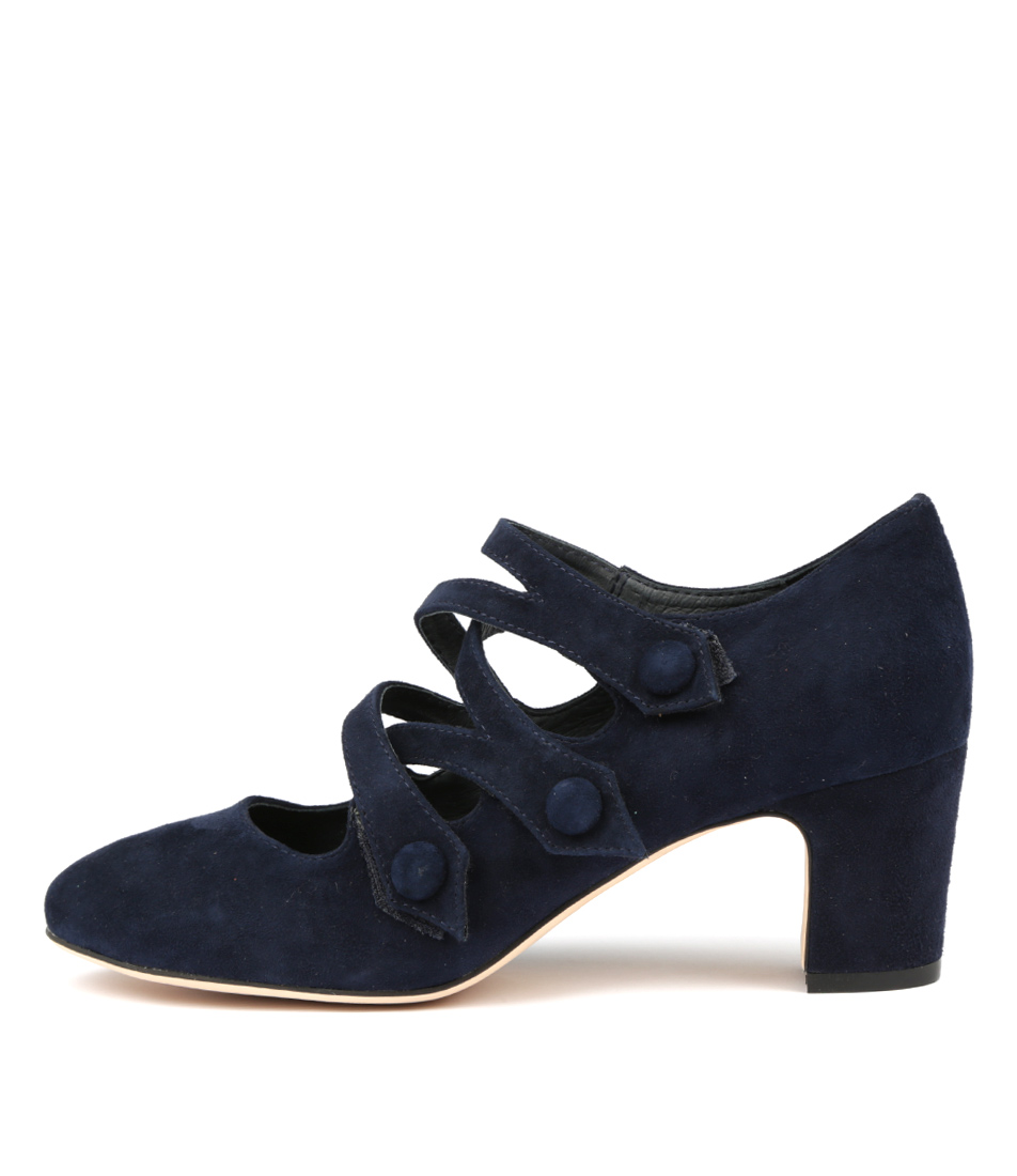 Buy Django & Juliette Emelda Navy Navy High Heels online with free shipping