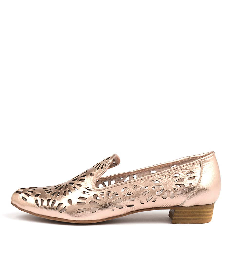 Django & Juliette Ethan Rose Gold Flat Shoes