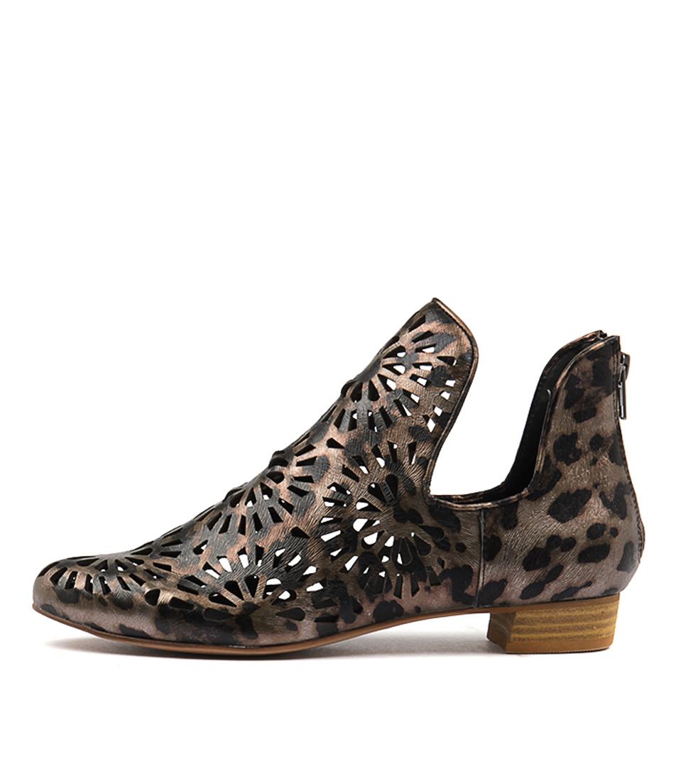 Django & Juliette Evano Ocelot Ankle Boots