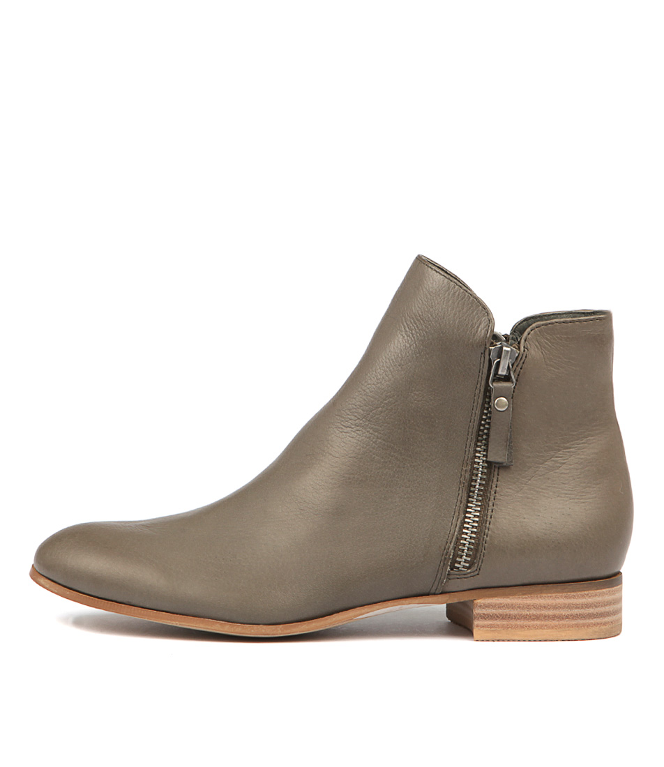 Buy Django & Juliette Fabian Olive Ankle Boots online with free shipping