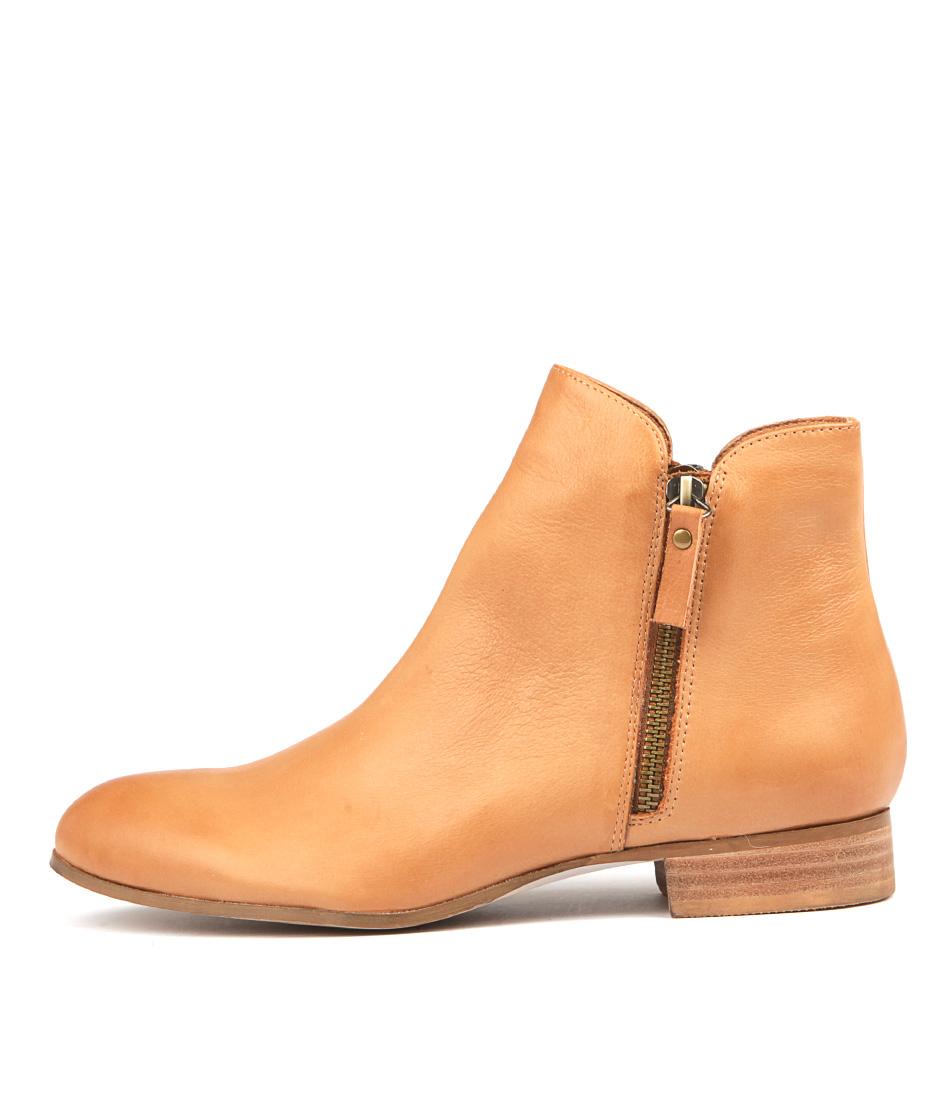 Buy Django & Juliette Fabian Dk Tan Ankle Boots online with free shipping