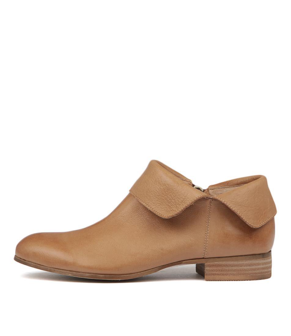 Django & Juliette Fevel Dk Tan Ankle Boots