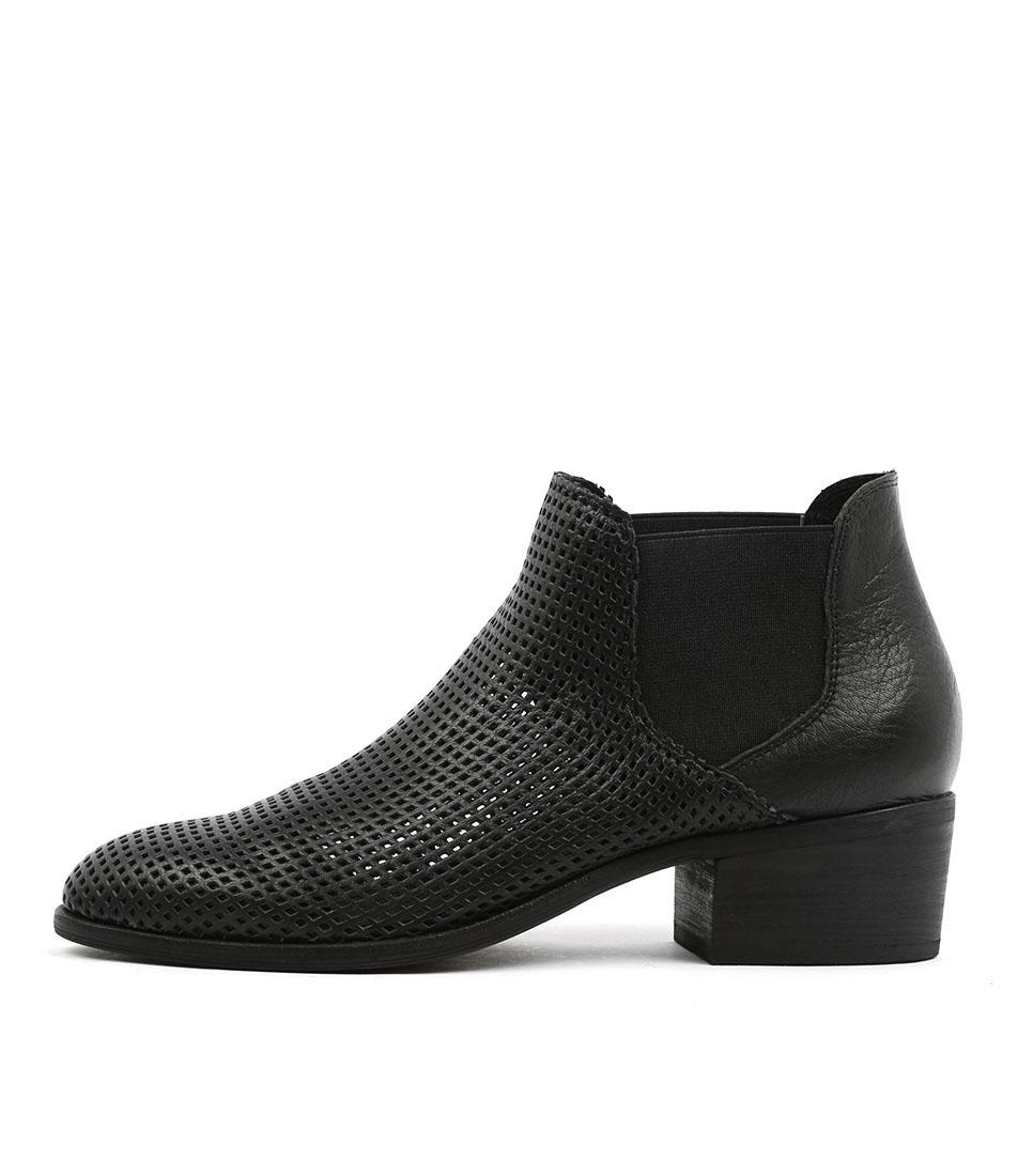 Django & Juliette Hiska Black Ankle Boots
