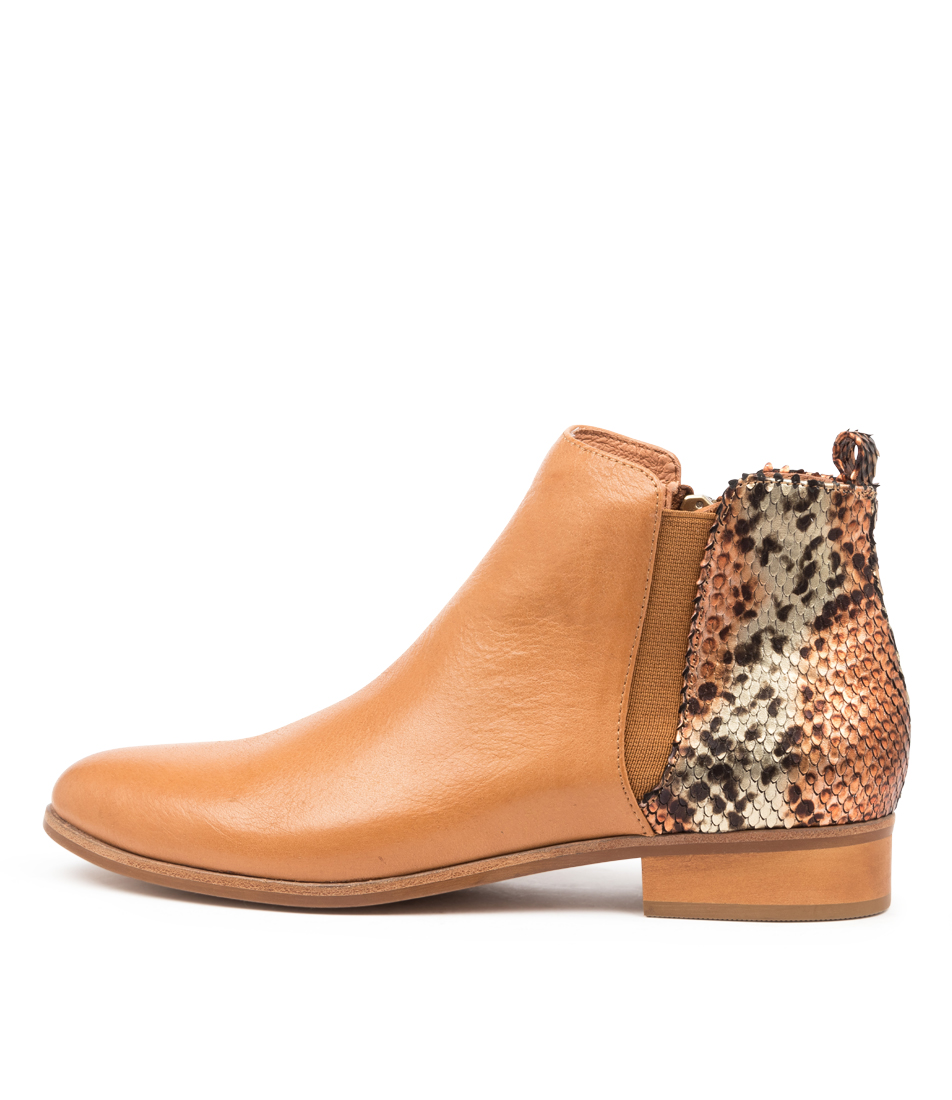 Buy Django & Juliette Inflict Dk Tan Rustic Ankle Boots online with free shipping